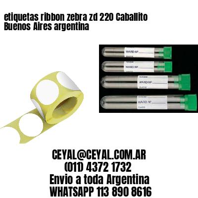 etiquetas ribbon zebra zd 220 Caballito Buenos Aires argentina
