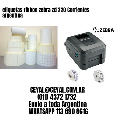 etiquetas ribbon zebra zd 220 Corrientes argentina