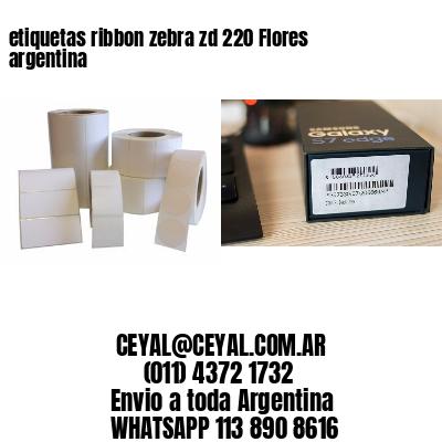 etiquetas ribbon zebra zd 220 Flores argentina