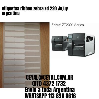 etiquetas ribbon zebra zd 220 Jujuy argentina