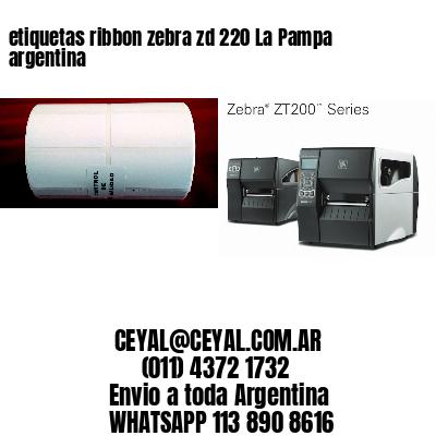 etiquetas ribbon zebra zd 220 La Pampa argentina