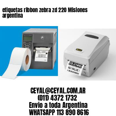 etiquetas ribbon zebra zd 220 Misiones argentina