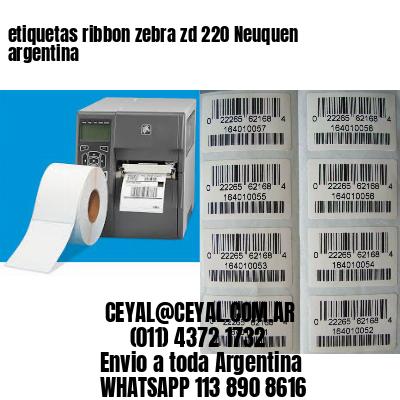 etiquetas ribbon zebra zd 220 Neuquen argentina