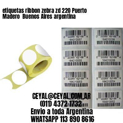 etiquetas ribbon zebra zd 220 Puerto Madero  Buenos Aires argentina