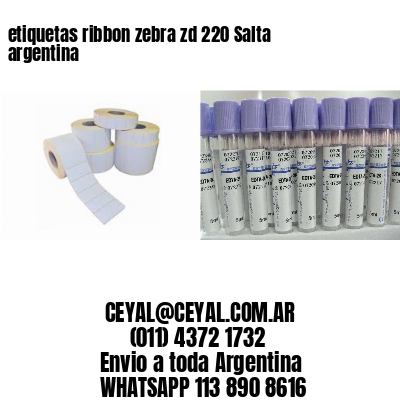 etiquetas ribbon zebra zd 220 Salta argentina