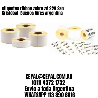 etiquetas ribbon zebra zd 220 San Cristóbal  Buenos Aires argentina