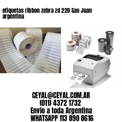 etiquetas ribbon zebra zd 220 San Juan argentina