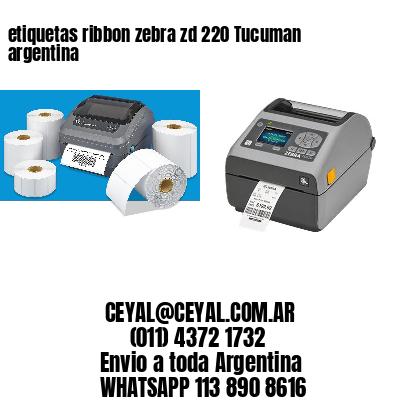 etiquetas ribbon zebra zd 220 Tucuman argentina
