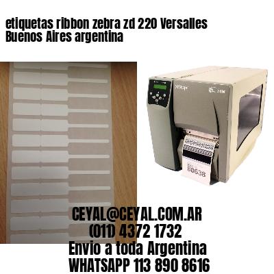 etiquetas ribbon zebra zd 220 Versalles  Buenos Aires argentina