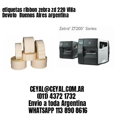 etiquetas ribbon zebra zd 220 Villa Devoto  Buenos Aires argentina