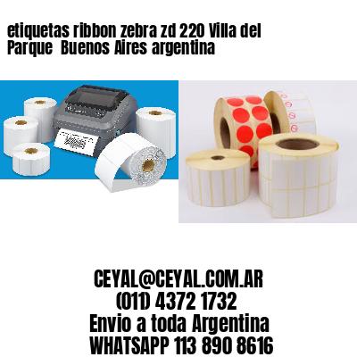 etiquetas ribbon zebra zd 220 Villa del Parque  Buenos Aires argentina