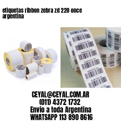 etiquetas ribbon zebra zd 220 once argentina