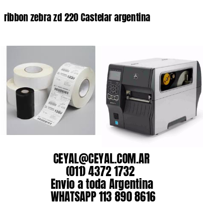 ribbon zebra zd 220 Castelar argentina