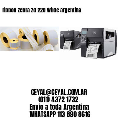 ribbon zebra zd 220 Wilde argentina
