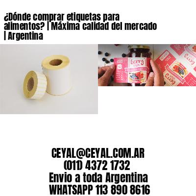 ¿Dónde comprar etiquetas para alimentos? | Máxima calidad del mercado | Argentina