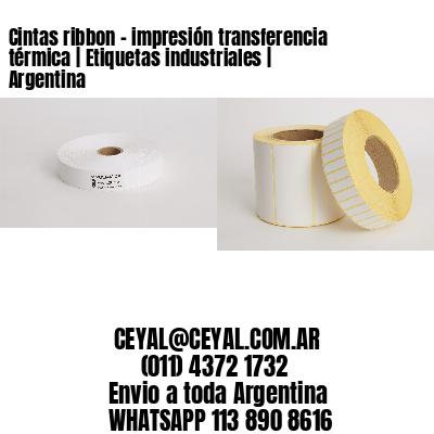 Cintas ribbon - impresión transferencia térmica   Etiquetas industriales   Argentina