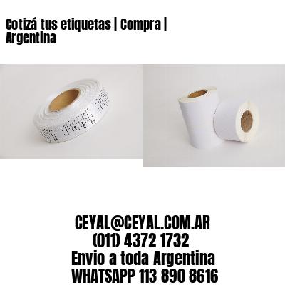 Cotizá tus etiquetas | Compra | Argentina