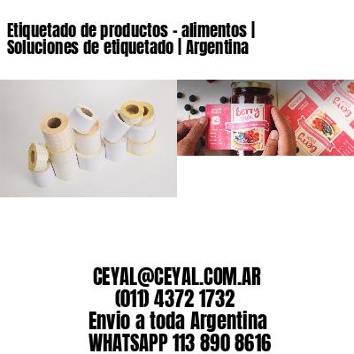 Etiquetado de productos - alimentos | Soluciones de etiquetado | Argentina