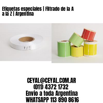 Etiquetas especiales | Filtrado de la A a la Z | Argentina
