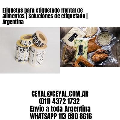 Etiquetas para etiquetado frontal de alimentos | Soluciones de etiquetado | Argentina