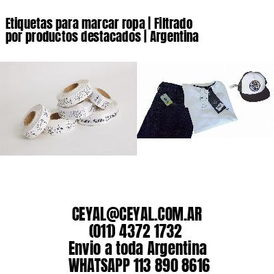 Etiquetas para marcar ropa | Filtrado por productos destacados | Argentina