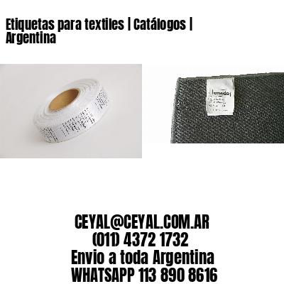 Etiquetas para textiles | Catálogos | Argentina