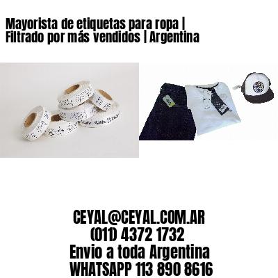 Mayorista de etiquetas para ropa | Filtrado por más vendidos | Argentina