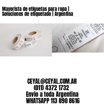Mayorista de etiquetas para ropa | Soluciones de etiquetado | Argentina