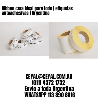 Ribbon cera ideal para todo | etiquetas autoadhesivas | Argentina