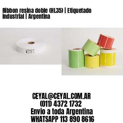 Ribbon resina doble (HL35) | Etiquetado industrial | Argentina