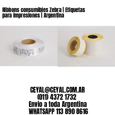 Ribbons consumibles Zebra | Etiquetas para impresiones | Argentina