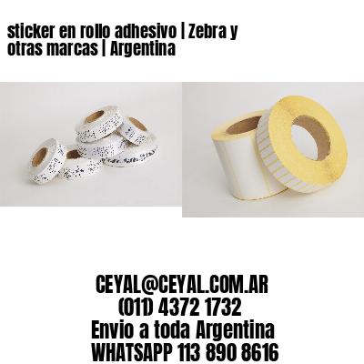 sticker en rollo adhesivo | Zebra y otras marcas | Argentina