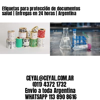 Etiquetas para protección de documentos salud | Entregas en 24 horas | Argentina