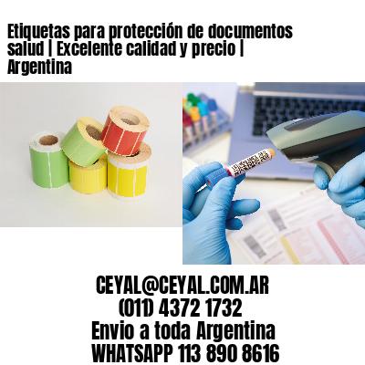 Etiquetas para protección de documentos salud   Excelente calidad y precio   Argentina