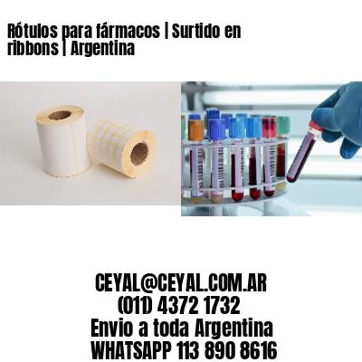 Rótulos para fármacos | Surtido en ribbons | Argentina